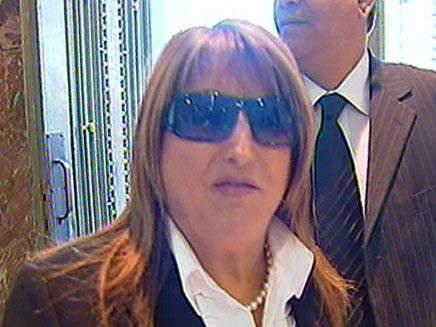 שולה זקן מגיעה למשפט אולמרט (צילום: חדשות 2)