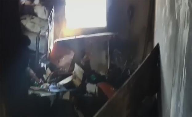 זירת השריפה, היום (צילום: חדשות 2)