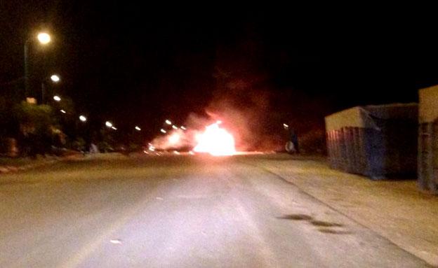 חילופי אש בטייבה (צילום: חדשות 2)