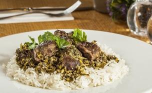 תבשיל בקר בלימון כבוש ואורז (צילום: אסף אמברם, אוכל טוב)