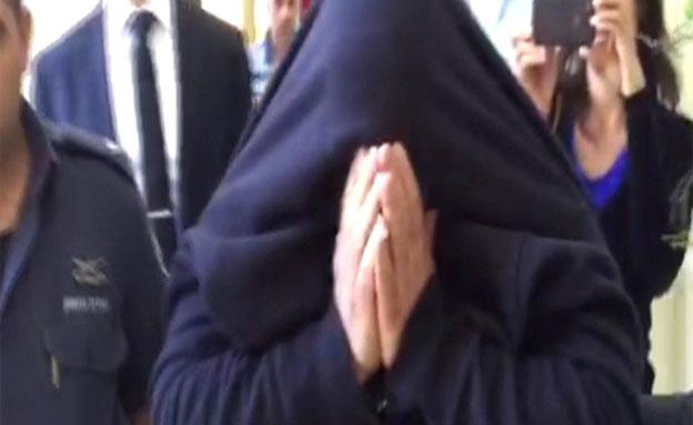 הנאשם בבית המשפט השבוע (צילום: חדשות 2)