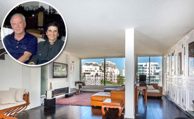 קולאז רבין ולאה בדירה (צילום: יגאל הררי)