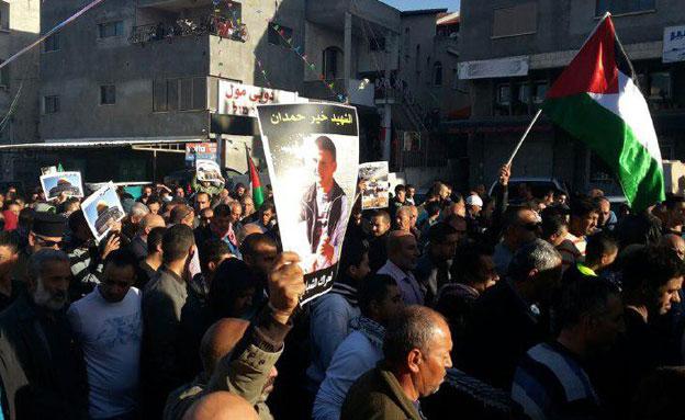 ההפגנות בכפר כנא, בתחילת השבוע (צילום: חדשות 2)