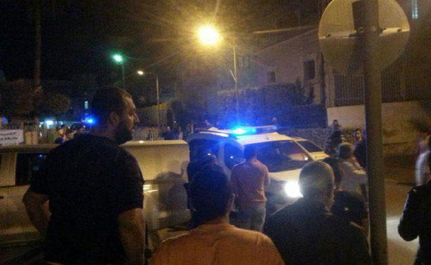 הקטטה האלימה, אמש (צילום: חדשות 2)