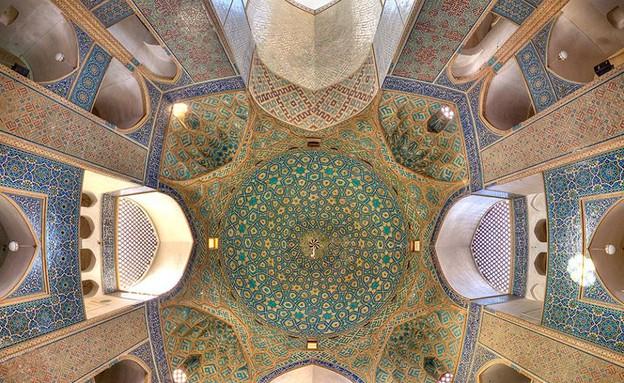 מסגדים באיראן, Jameh Mosque of Yazd (צילום: מתוך הפייסבוק של Mohammad Reza Domiri Ganji)