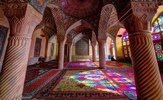 מסגדים באיראן, Nasir al-Mulk mosque (צילום: מתוך הפייסבוק של Mohammad Reza Domiri Ganji)
