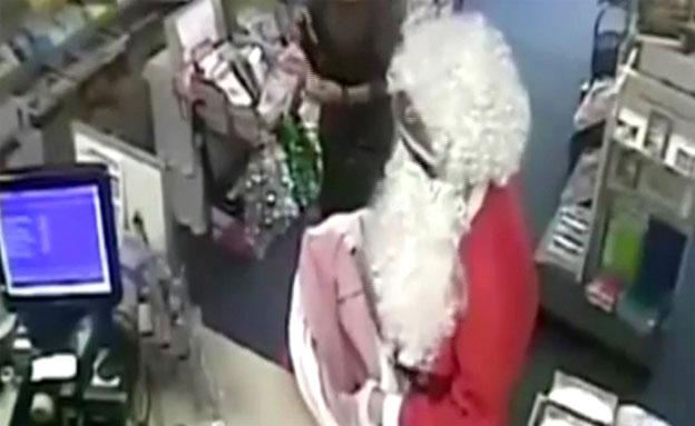 צפו: סנטה קלאוס שודד את בנק הדואר
