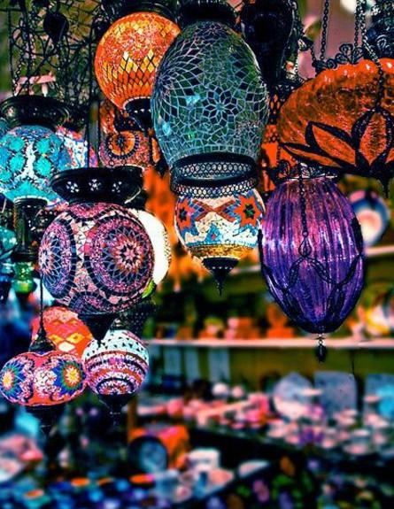 סגנון בוהמייני, מנורות (צילום: thingsmakemehappy)