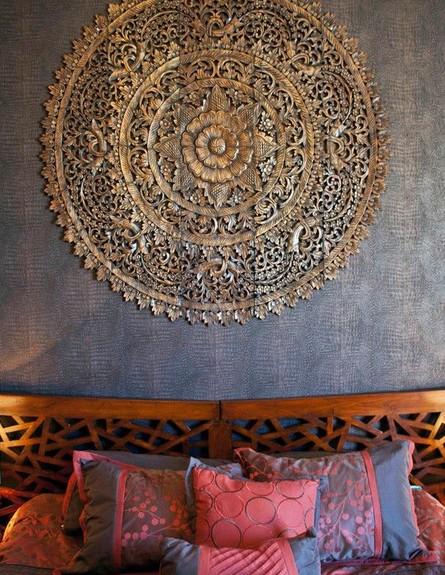 סגנון בוהמייני, מנדלה בחדר השינה (צילום: houzz.com)