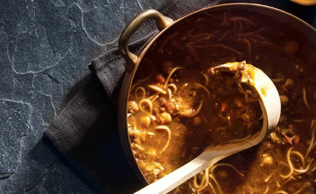מרק חרירה (צילום: דן לב, אוצר מאכלי העדות, על השולחן)