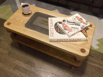 שולחנות קפה עשה זאת בעצמך, שולחן אח (צילום:  instructables )