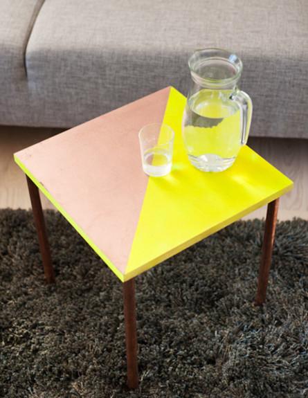 שולחנות קפה עשה זאת בעצמך, שולחן צד (צילום: designsponge)