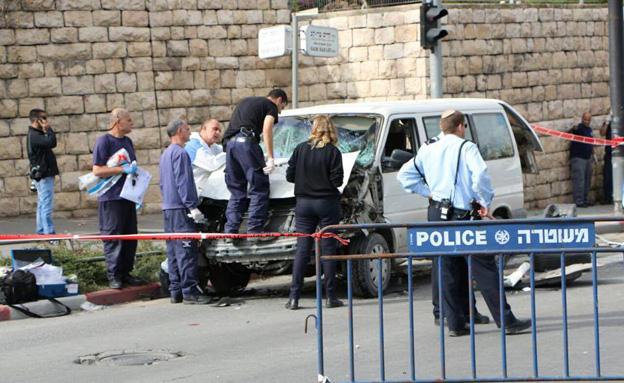 פיגוע דריסה בירושלים (צילום: חדשות 2)