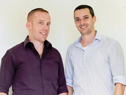 מייסדי HopOn (הופון), דוד מזומן ועפר סיני (צילום: שוקה כהן)