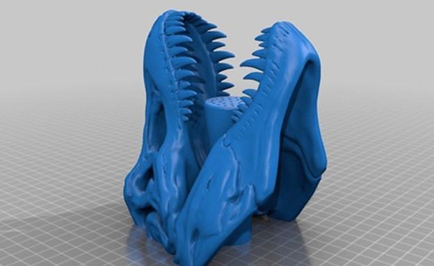 החמישייה 23.11, ראש אמבטיה דינוזאור (צילום: thingiverse )