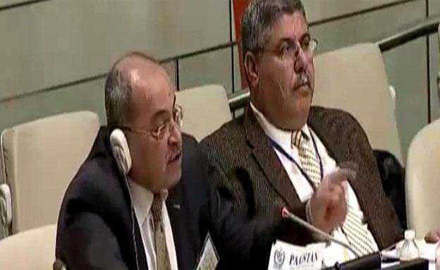 """צפו בדבריו של ח""""כ טיבי באו""""ם (צילום: חדשות 2)"""