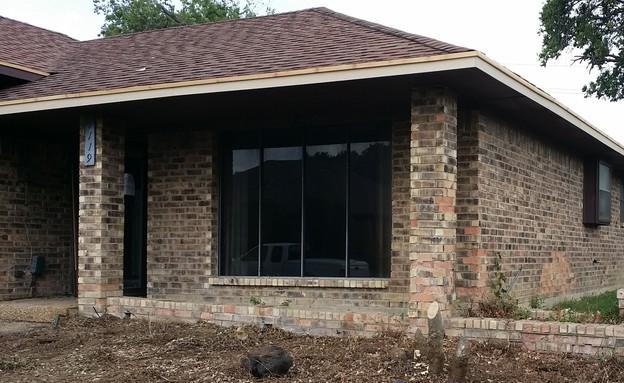 בית בטקסס לפני (צילום: model my home)