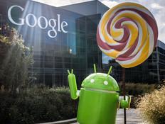 פסל Android Lollipop במדשאת גוגל