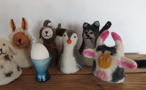 חורף, גלרייה לאל במושב כמון, מחממים לביצים רכות, 2 (צילום: טובה אדמוני)