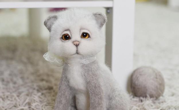 חורף, ורדה הומניק, חתול צמרירי בעבודת יד, 350 שקלי (צילום: ורדה הומניק)