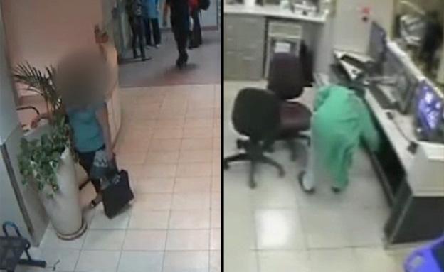 מתחת לאף: החשודים בגניבות בפעולה (צילום: באדיבות דוברות רמבם)