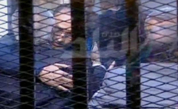 משפטו של חוסני מובראק (צילום: חדשות 2)