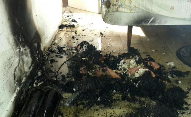 התנור שגרם לשריפה (צילום: כבאות מחוז דן)