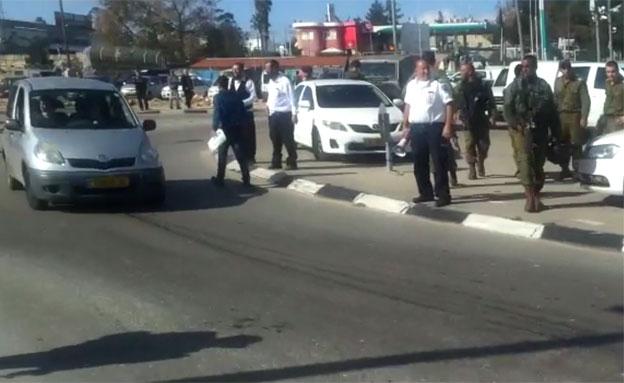 צפו: הירי לעבר המחבלת (צילום: חדשות 2)
