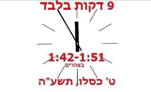 תפילת השעה התשיעית (צילום:  Photo by Flash90, פייסבוק)