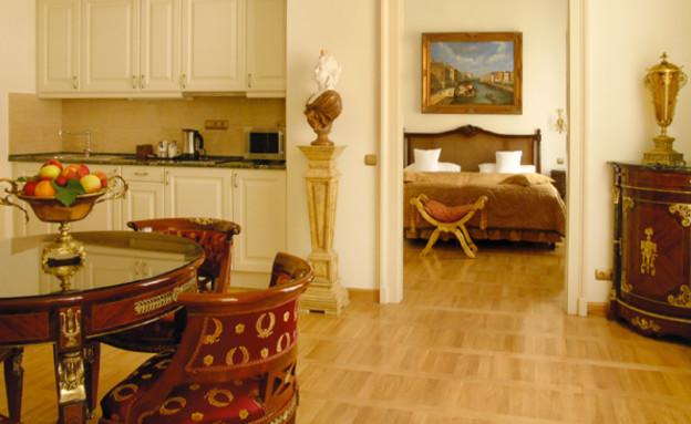 הלאונג' במלון סט. ג'ורג', בודפשט (צילום: האתר הרשמי)