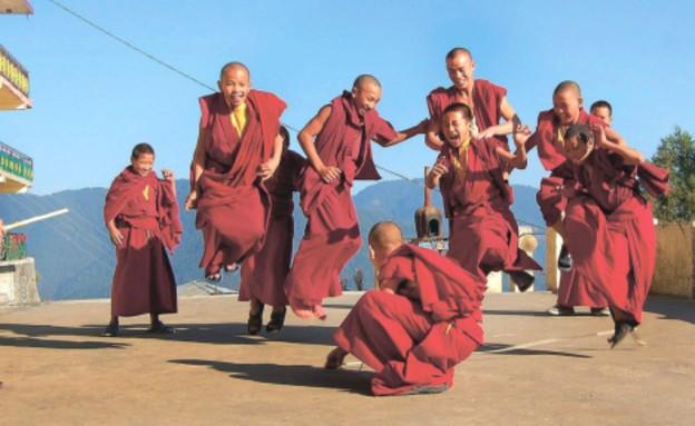 מנזר בודהיסטי בעיר שימלה בצפון הודו (צילום: אי־פי)