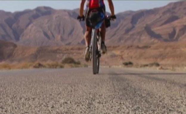מקצה האופניים נחסם (צילום: חדשות 2)