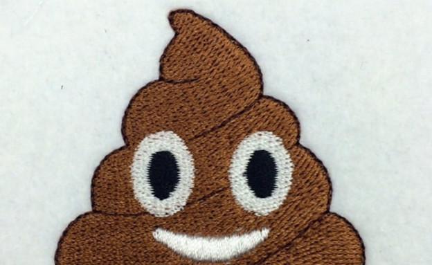 קקי מחייך, סמל רקום (צילום: etsy.com)