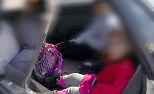 יממה אחרי האסון: ילדים לא חגורים (צילום: חדשות 2)