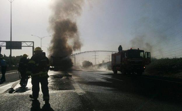 אזור התאונה (צילום: חדשות 2)