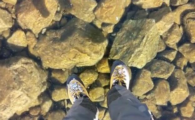 אגם קפוא (צילום: יוטיוב)