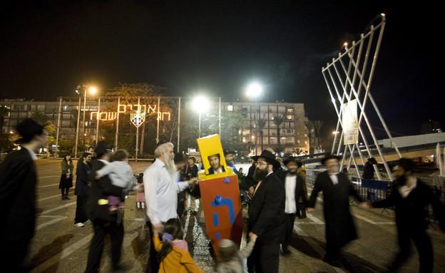 חנוכיות בתל אביב, (צילום: תומר אפל)