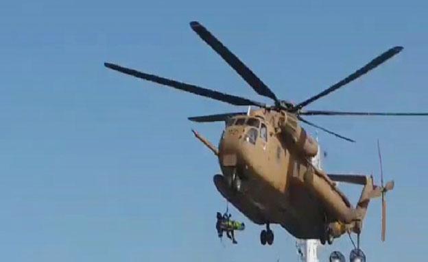 חילוץ, מסוק, אשדוד (צילום: חדשות 2)