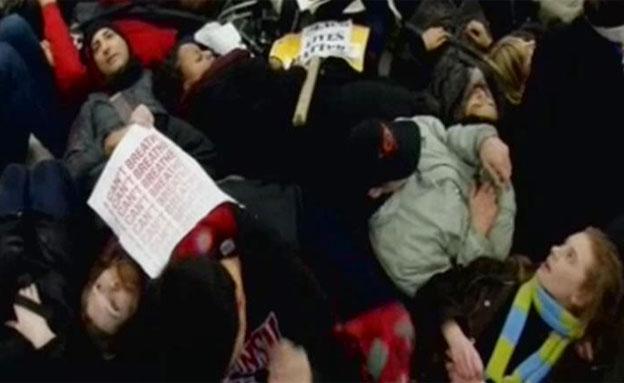 הפגנה בניו יורק (צילום: חדשות 2)
