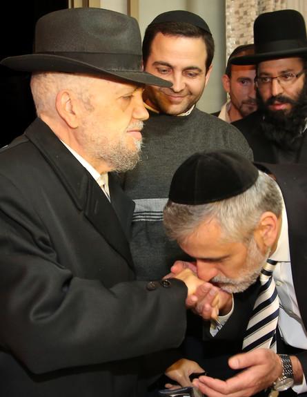 הרב מאיר מאזוז ואלי ישי (צילום: איציק מימון)