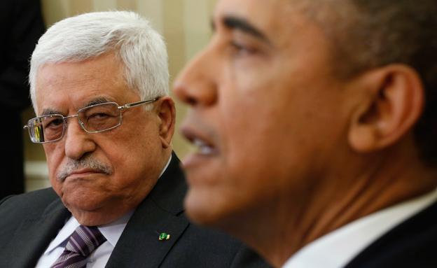 """ארה""""ב לא תתמוך. אובמה ואבו מאזן (צילום: רויטרס)"""