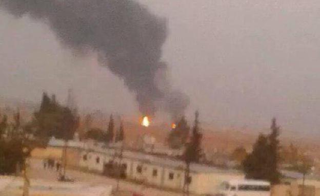 מטרה שהותקפה בסוריה (צילום: האופוזיציה הסורית)
