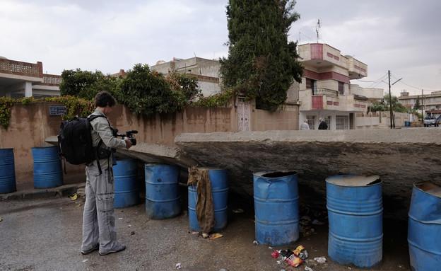 איתי אנגל בחזית מול דאעש (צילום: אדי גרלד, עובדה)