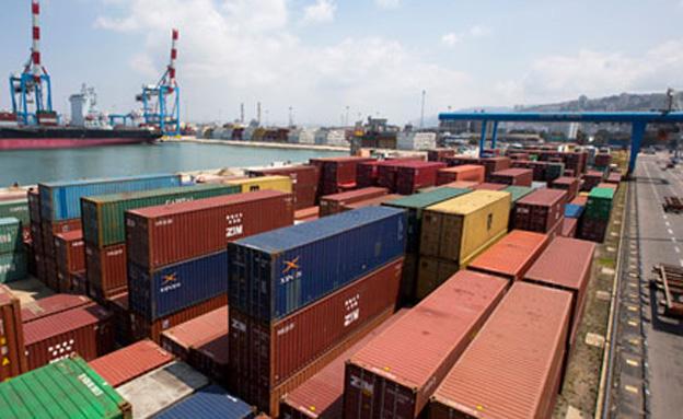 נמל חיפה, מכולות (צילום: חדשות 2)