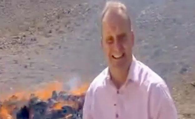 דיווח תחת אש (צילום: יוטיוב)