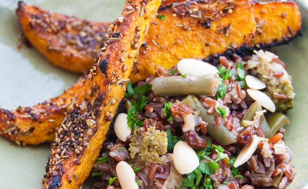 צלי דלורית עם פילאף אורז אדום וירקות (צילום: אורי שביט, אוכל טוב)
