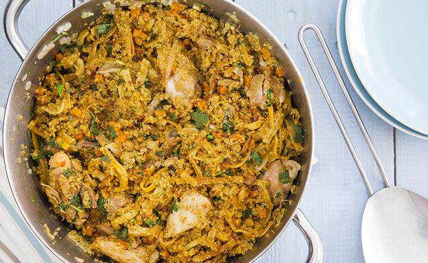 תבשיל קינואה, אטריות ופרגיות  (צילום: אסף אמברם, אוכל טוב)