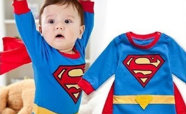 """סופרמן לתינוק – החל מ-9.26 דולר, משלוח חינם (37 ש""""ח) (צילום: ebay)"""