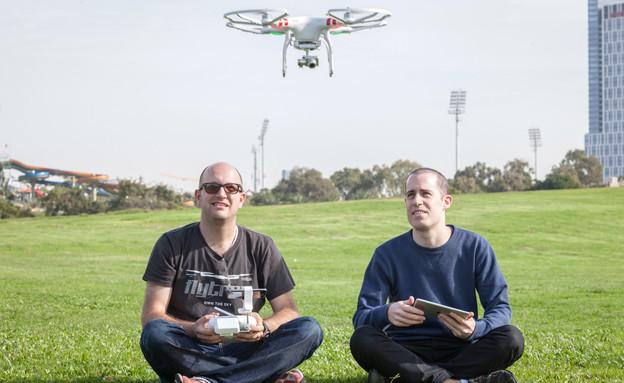 עמית רגב ויריב בש, מייסדי Flytrex (צילום: אייל טואג, TheMarker)