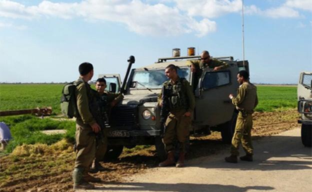 """כוח צה""""ל בגבול הרצועה לאחר תקרית הירי הש"""